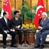 김영남위원장, 싱가포르대통령과 회담