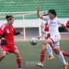 평양에서 중국팀과 경기, 4-0으로 압승