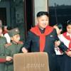 김정은제1위원장, 조선소년단창립 66돐 경축 전국련합단체대회에서 연설