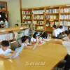 이바라기초중고 새 도서실 개설, 교원들과 어머니들이 정성담아
