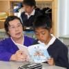 〈교실에서 – 미래를 가꾸는 우리 선생님 48〉 도꾜조선제2초급학교 국어 윤명실교원