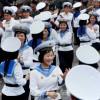 조선인민군장병들의 경축무도회 진행