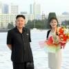 김정은원수님, 인민무력부에 높이 모신 김일성주석님과 김정일장군님의 동상을 돌아보시였다