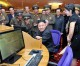 김정은원수님께서 조선인민군무장장비관에 새로 꾸려진 전자도서관을 돌아보시였다