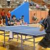 〈학생중앙체육대회・탁구〉모든 종목에서 열전, 중급부는 히가시오사까가 활약