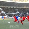 조선과 일본 체육대학팀들 축구경기 진행