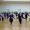 설맞이공연에 참가하는 재일조선학생소년예술단, 인민문화궁전에서 훈련