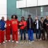 미국 전국롱구협회(NBA) 이전 선수와 일행, 평양 도착