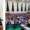 〈총련 제22차 전체대회〉 허종만책임부의장이 한 총련 제22차 전체대회 보고