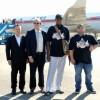 미국 NBA 데니스 로드맨 이전 선수와 일행, 평양도착