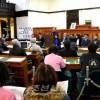 보조금지불 재개 요구하는 야마구찌동포들의 항의집회