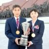 김혁봉, 김정선수에게 명수상/국제탁구련맹, 두바이에서 수여식