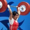 〈인천 아시아대회・녀자력기〉리정화선수, 69kg급경기에서 금메달