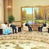 김영남위원장, 재일본조선인축하단들과 담화