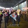 〈U-16 아시아선수권〉우승한 조선선수들이 개선귀국