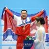 〈인천 아시아대회・남자력기〉엄윤철, 김은국선수가 세계신기록수립