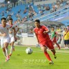 〈인천 아시아대회・남자축구〉조별련맹전에서 승리