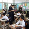 우리 학교의 존재와 의의 알리는 마당/오까야마초중, 10여년만의 공개수업