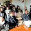 새 세대 역원들이 결의 피력/총련교또 니시지부 역원신년모임