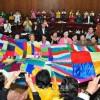 국제녀성대행진에 참가할 대표단성원들, 조선녀성들과 교류