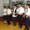 평양외국어대학 학생들과 교류/일본대학생 7명이 《어린이그림전》에 동행