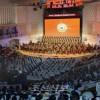 공훈국가합창단이 청봉악단과 합동출연하는 초대공연/모스크바에서 대성황리에 진행
