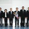 조선로동당창건 70돐경축 재일본조선인축하단 평양에 도착