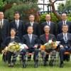 중국 청화대학 정기렬 초빙교수 총련중앙회관을 방문