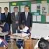 허종만책임부의장 니이가다초중을 찾아 후꾸시마초중 교직원, 학생들을 격려