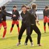 【사진특집】올림픽 아시아최종예선에 출전한 조선녀자축구선수들