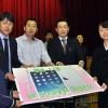 ICT교육 기자재 10대 기증/효고 히가시고베나다지역청상회, 작년에 이어 2번째