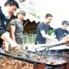 〈동일본대진재〉 상공련, 청상회 《焼肉塾》 성원들 피해지에서 2번째 식사공급