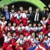 〈U-17녀자축구〉조선팀이 우승, 승부차기에서 일본팀을 타승