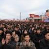 《위대한 승리의 해》로 빛내이자/김일성광장에서 평양시군중대회