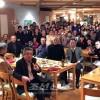 102명이 모여 신입생, 졸업생을 축하/총련 히로시마시니시지부