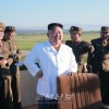 김정은원수님께서 국방과학원에서 조직한 신형반항공요격유도무기체계의 시험사격을 보시였다