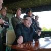김정은원수님, 섬점령을 위한 조선인민군 특수작전부대들의 대상물타격경기를 지도