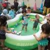 사이다마초중에서 유치반 원아들과 학령전어린이들의 합동물놀이