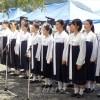 교또 마이즈루에서 《우끼시마마루순난 72돐추도모임》/희생자들을 추모하여 바다에 헌화
