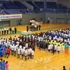 1,500여명이 열전/교육원조비와 장학급의 배려 60돐기념 학생중앙체육대회