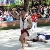 평안북도의 선수가 3련승의 목표 달성/제14차 대황소상 전국민족씨름경기
