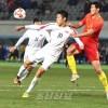 〈E-1 축구선수권대회・남자〉조선팀, 중국에 1 대 1로 비김
