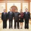 김정은원수님께서 남측지역을 방문하였던 조선고위급대표단 성원들을 만나시였다