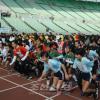 1,500명 남녀로소로 성황/광명성절경축 오사까동포, 학생이어달리기 마라손대회