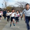 체육수업교류의 성과를 발휘/이바라기초중고, 후꾸시마초중합동 광명성절기념 장거리달리기대회