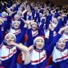 【사진특집】올림픽을 민족의 경사로 빛내이는 북측응원단