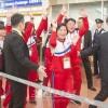 조선선수단 일본도착, 열렬히 환영/시즈오까에서 국제수영련맹 물에뛰여들기 월드시리즈