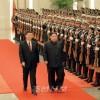 김정은원수님을 환영하는 의식 인민대회당에서 성대히 거행