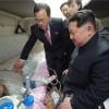 김정은원수님께서 조선에서 사고를 당한 중국인 사망자들의 시신과 부상자들을 후송하기 위한 전용렬차를 떠나보내시였다