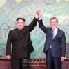 김정은원수님께서 문재인대통령과 상봉, 회담